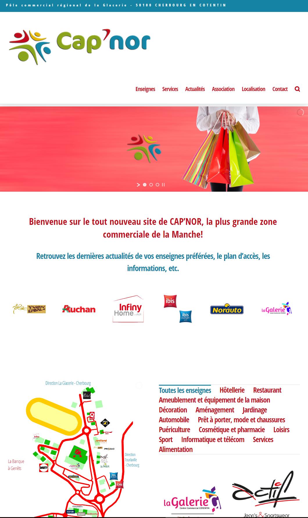 CAP'NOR page d'accueil du site
