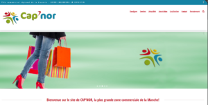 Site Internet responsive de la zone commerciale CAP'NOR à Cherbourg