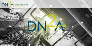 Site Internet de DN2A drone responsive
