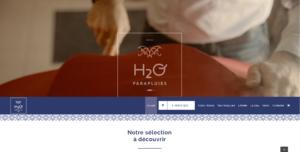 Site web e-commerce de H2O parapluies sécurisé en SSL et full responsive sous Woocommerce