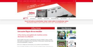 Site Internet responsive et https INFINY HOME la galerie du mobilier à la Glacerie